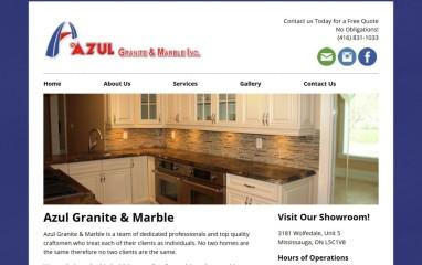 Azul Granite & Marble Website