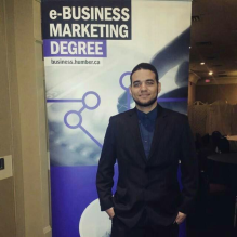 Martin Perez, President of the e-Business Student Association