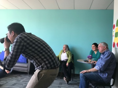 Humber student photographer working with Ripple Effect Children's Services