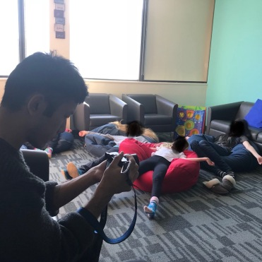 Humber student videographer working with Ripple Effect Children's Services