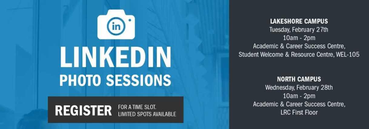 LinkedIn Photo Session (Tuesday, Feb27)