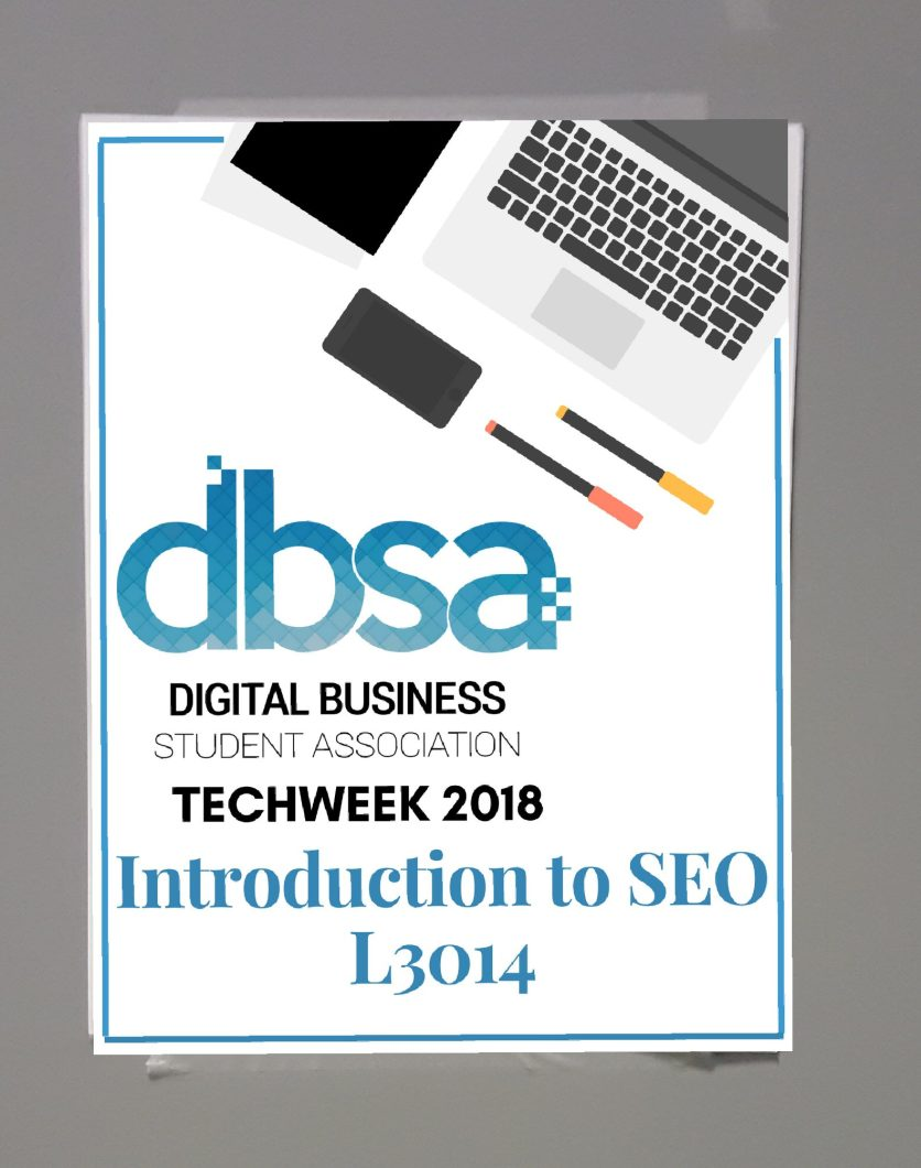 tech-week-SEO-sign