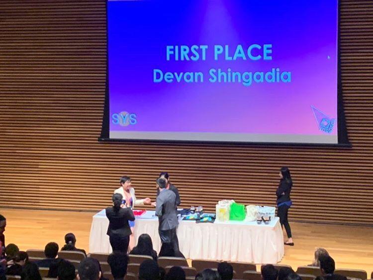 Congrats to our DECA winner DevanShingadia!